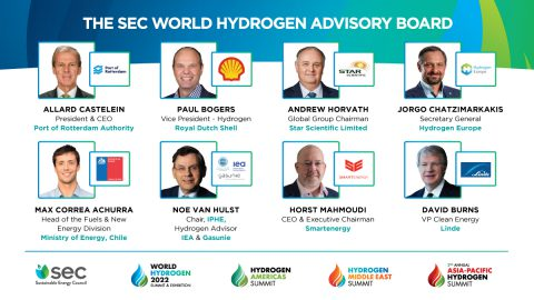 Sustainable Energy Council Announces World Hydrogen Advisory Board of Industry Leaders